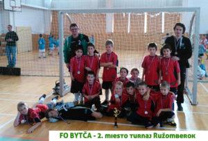 Prípravka FO Bytča na turnaji v Ružomberku obsadila druhé miesto