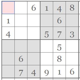 Hrajte sudoku