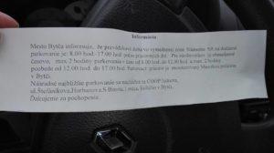 Parkovanie na Námestie SR v Bytči po novom