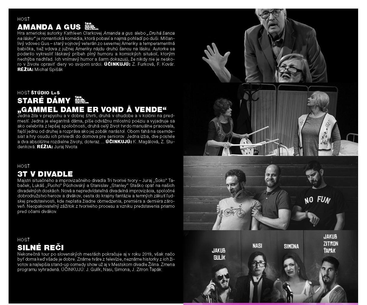 Program Mestského divadla v Žilina - MÁJ 2019