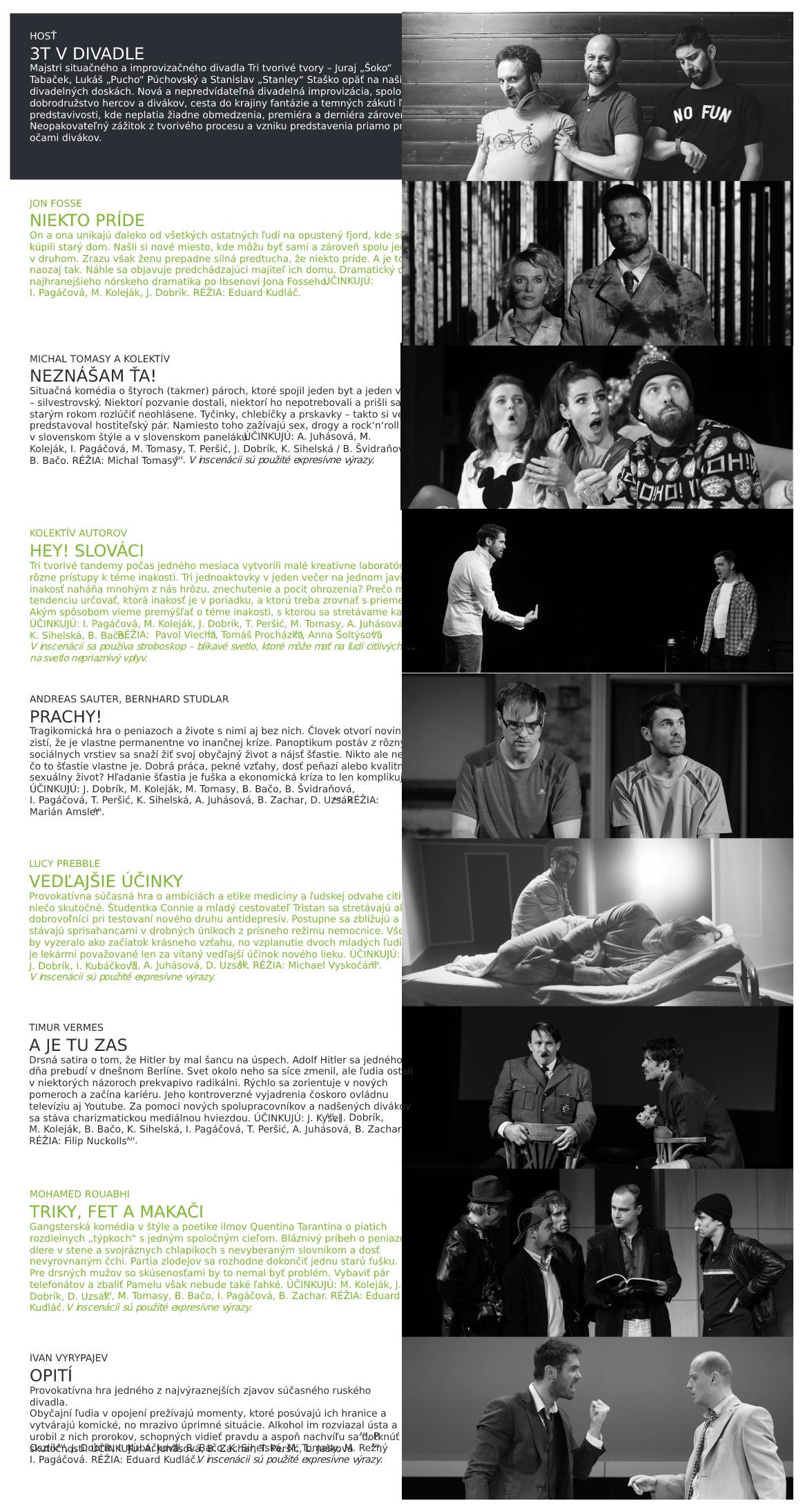 Program divadla 06/2021